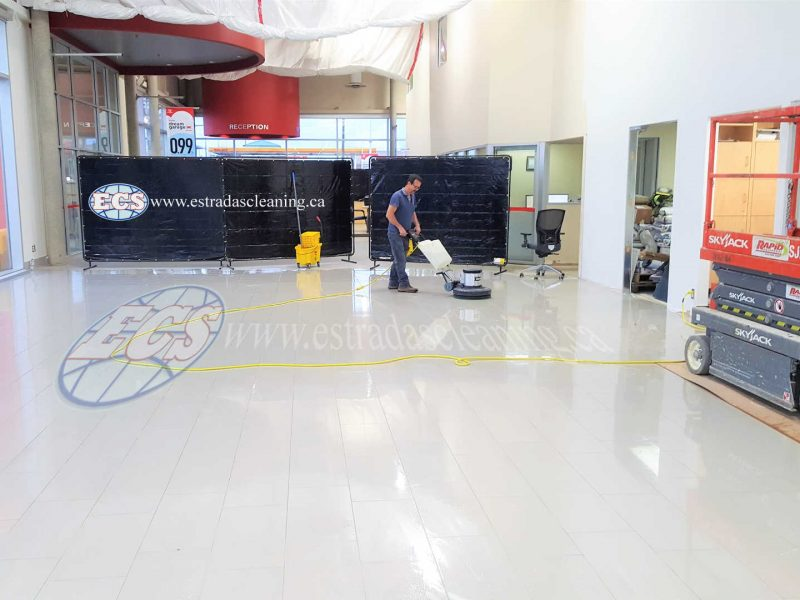 Cleaning and polishing of floors